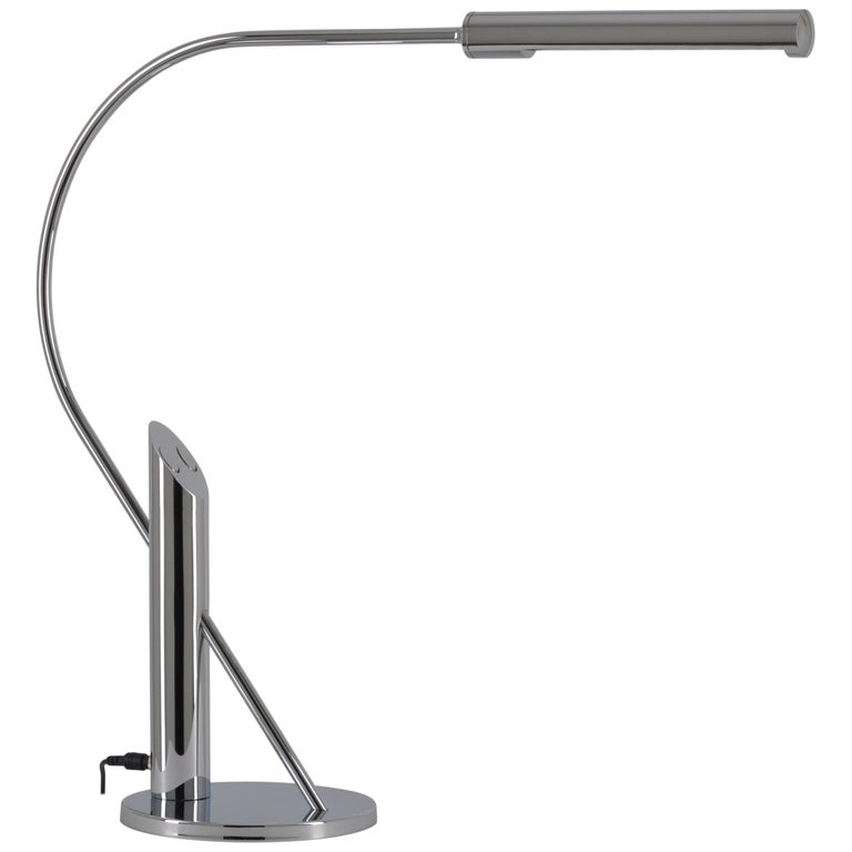 Elegant Topan Chrome Table Lamp by Florian Schulz, Germany