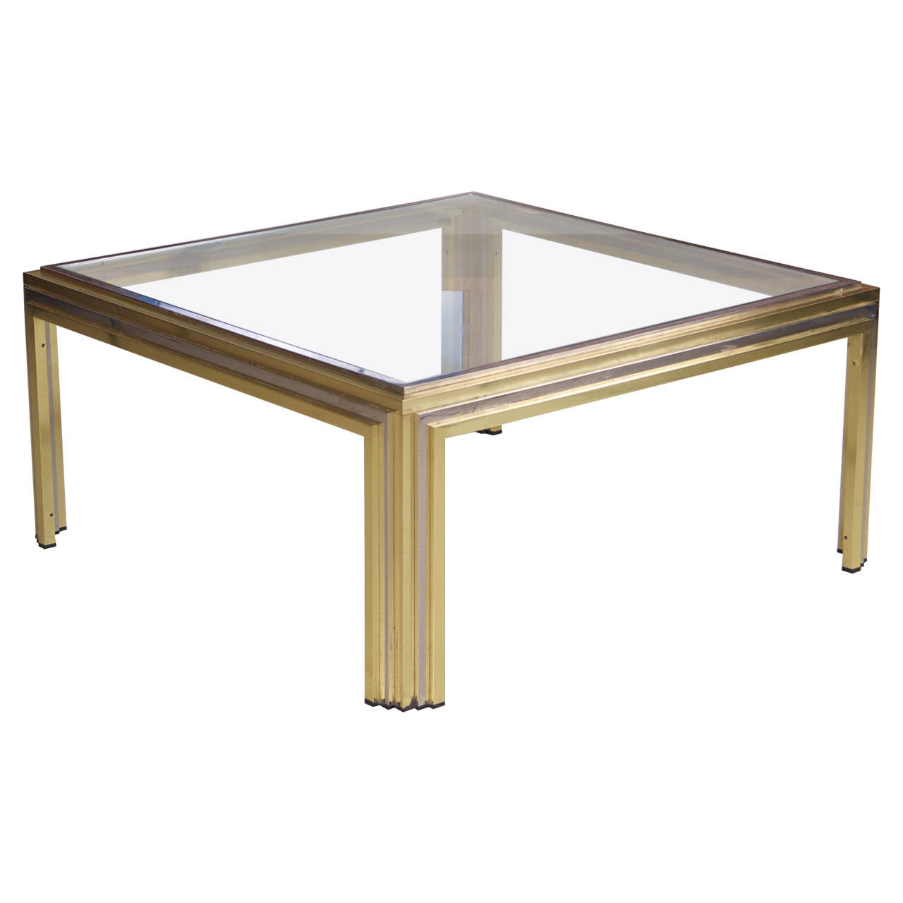 Romeo Rega Coffee Table In Brass And Chrome Lomomomo