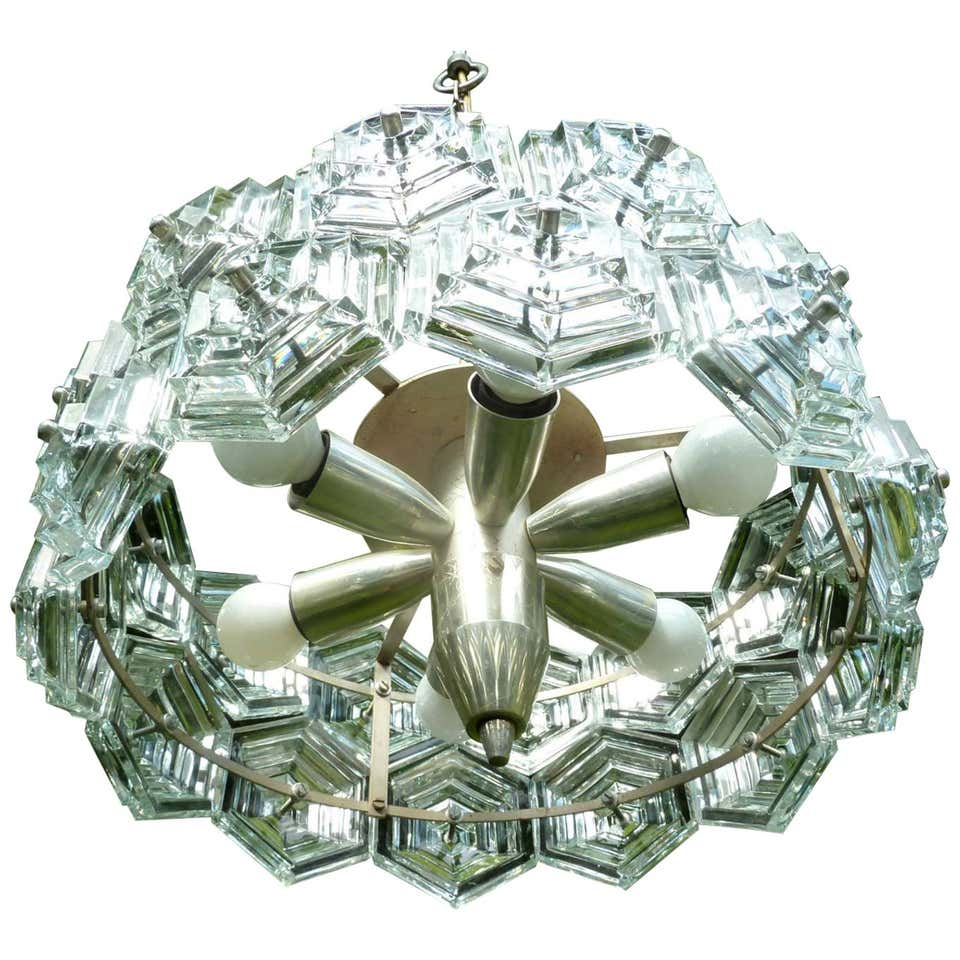 1 of 16 Oversized German Ballroom Chandelier, Germany, 1960s-1970s