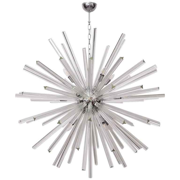 Extraordinary Huge Murano Glass Sputnik Chandelier in the manner of Venini