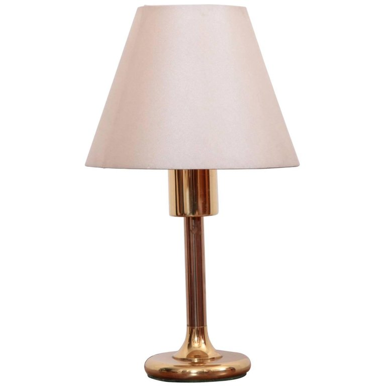 1 of 5 1980s Brass Table Lamps by Cosack Lights, Germany